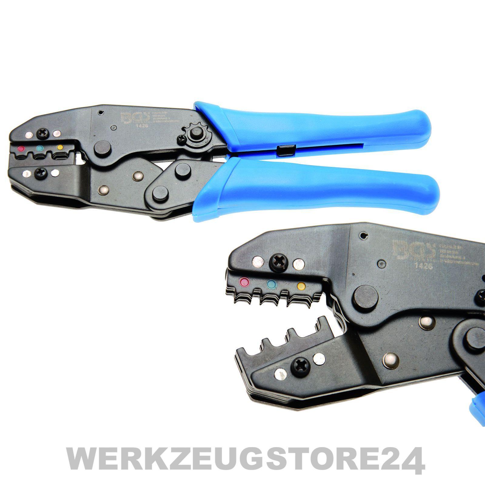 BGS Kabelschuhzange Ratschenfunktion Crimpzange Presszange 0,5-6 mm² 1426