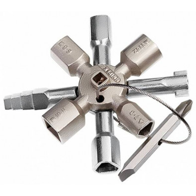 Knipex Schaltschrank-Schlüssel TwinKey 001101 - 00 11 01