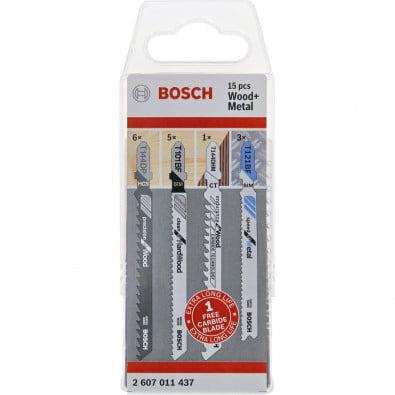 Bosch Sägeblattsatz Wood + Metal 15er-Set - 2607011437