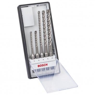 Bosch Hammerbohrer SDS plus-7X-Set Robust Line 5tlg. 5 / 6 / 6 / 8 / 10 mm - 2608576199