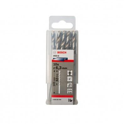 Bosch Metallbohrer HSS-G Standardline, DIN 338, 6,3 x 63 x 101 mm, 10er-Pack - 2608585498