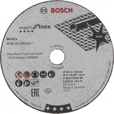 Bosch 5x Trennscheibe Expert for Inox 76x1x10 mm - 2608601520