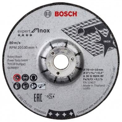 Bosch 2x Schruppscheibe ExpertforInox 76 x 4 x 10 mm - 2608601705
