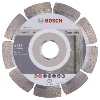 Bosch Diamanttrennscheibe Standard for Concrete 125x22,23x1,6x10 mm 2608602197