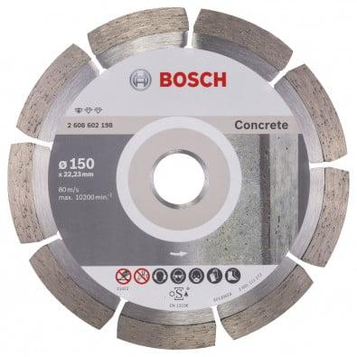 Bosch Diamanttrennscheibe Standard for Concrete 150x22,23x2x10 mm 2608602198