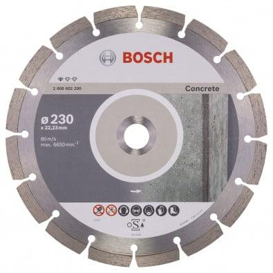 Bosch Diamanttrennscheibe Standard for Concrete 230x22,23x2,3x10 mm 2608602200