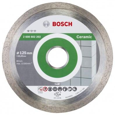 Bosch Diamanttrennscheibe Standard for Ceramic 125x22,23x1,6x7 mm 2608602202