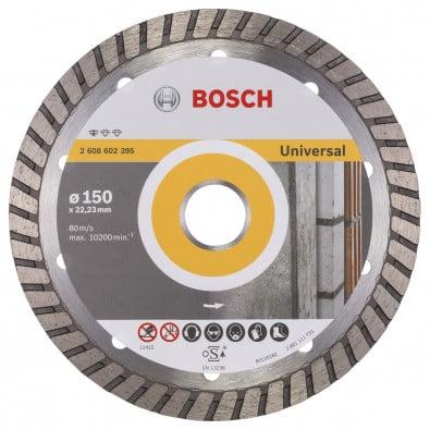 Bosch Diamanttrennscheibe Standard for Universal Turbo 150x22,23x2,5x10 mm 2608602395