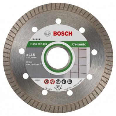 Bosch Diamanttrennscheibe Best for Ceramic Extra-Clean Turbo, 115 x 22,23 x 1,4 x 7 mm -2608602478