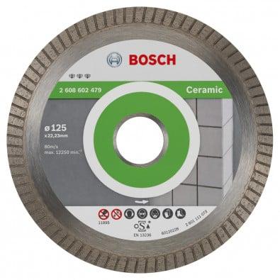 Bosch Diamanttrennscheibe Best for Ceramic Extra-Clean Turbo, 125 x 22,23 x 1,4 x 7 mm - 2608602479