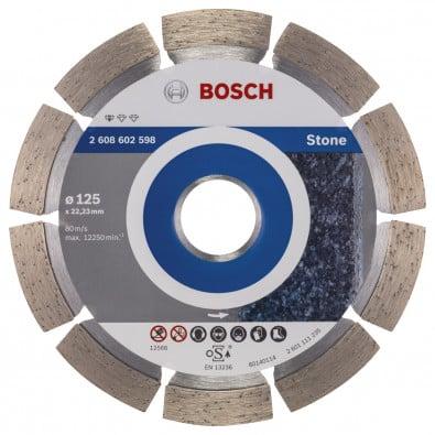 Bosch Diamanttrennscheibe Standard for Stone 125x22,23x1,6x10 mm 2608602598