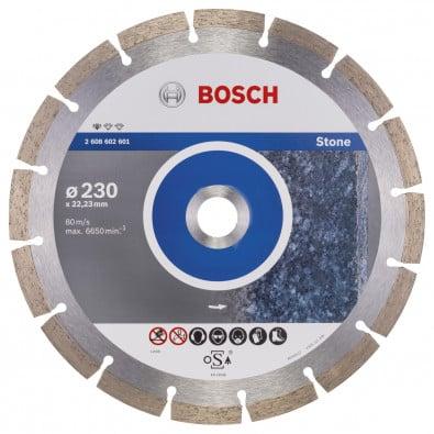Bosch Diamanttrennscheibe Standard for Stone 230x22,23x2,3x10 mm 2608602601
