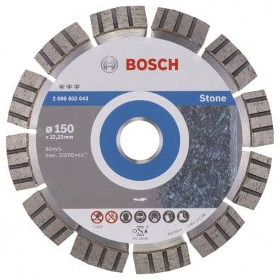 Bosch Diamanttrennscheibe Best for Stone, 150 x 22,23 x 2,4 x 12 mm -2608602643