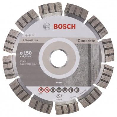 Bosch Diamanttrennscheibe Best for Concrete, 150 x 22,23 x 2,4 x 12 mm -2608602653