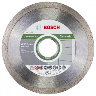 Bosch Diamanttrennscheibe Standard for Ceramic 115x22,23x1,6x7 mm 2608602201