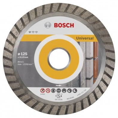 Bosch Diamanttrennscheibe Standard for Universal Turbo 125x22,23x2x10 mm 2608602394