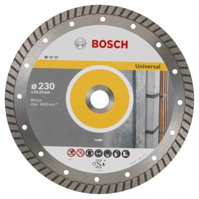 Bosch Diamanttrennscheibe Standard for Universal Turbo 230x22,23x2,5x10 mm 2608602397