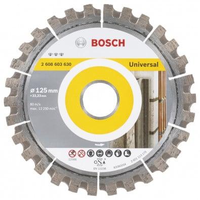 Bosch Diamanttrennscheibe Best for Universal, 125 x 22,23 x 2,2 x 12 mm -2608603630