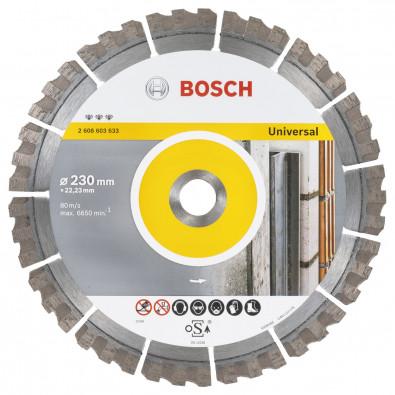 Bosch Diamanttrennscheibe Best for Universal 230mm - 2608603633