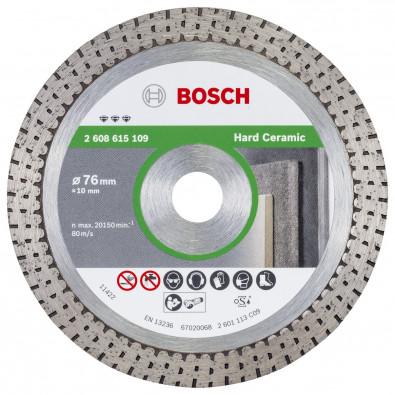 Bosch Diamanttrennscheibe Best for Hard Ceramic 76 x 10 x 1,9 x 10 mm - 2608615109