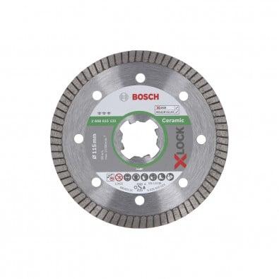 Bosch X-LOCK Diamanttrennscheibe Best for Ceramic Extraclean Turbo 115 x 22,23 x 1,4 x 7 mm - 2608615131