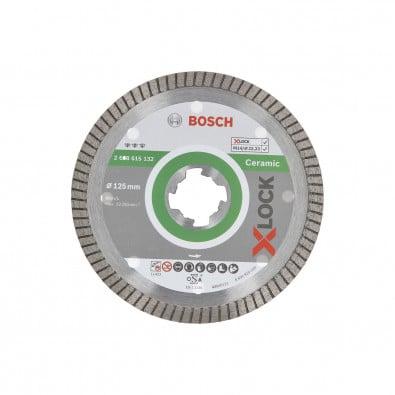 Bosch X-LOCK Diamanttrennscheibe Best for Ceramic Extraclean Turbo 125 x 22,23 x 1,4 x 7 mm - 2608615132