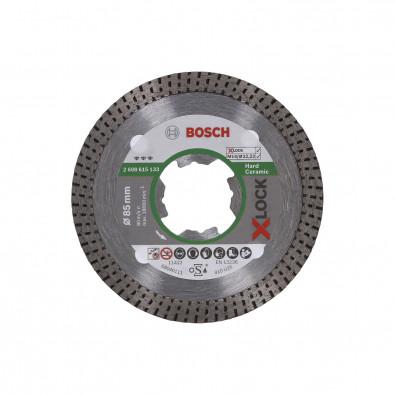 Bosch X-LOCK Diamanttrennscheibe Best for Hard Ceramic 85 x 22,23 x 1,4 x 7 mm - 2608615133
