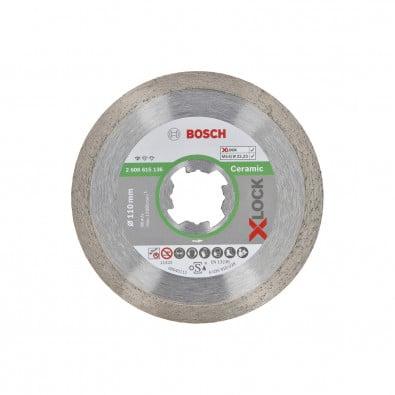 Bosch X-LOCK Diamanttrennscheibe Standard for Ceramic 110 x 22,23 x 1,6 x 7,5 mm - 2608615136