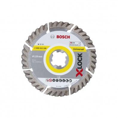 Bosch X-LOCK Diamanttrennscheibe Standard for Universal 125 x 22,23 x 2 x 10 mm - 2608615166