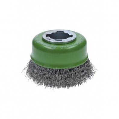Bosch X-LOCK Topfbürste Clean for Inox 75 mm gewellter rostfreier Stahldraht Drahtstärke 0,3 mm - 2608620728