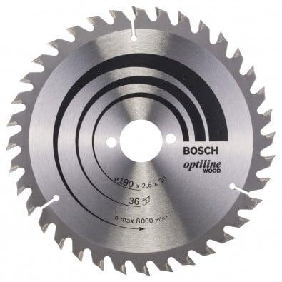 Bosch Kreissägeblatt Optiline Wood 190x30x2,6/1,6 mm 36T WZ - 2608640616