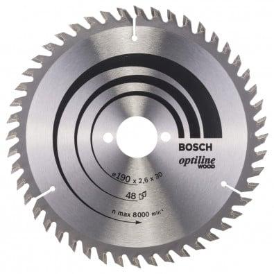 Bosch Kreissägeblatt Optiline Wood 190x30x2,6/1,6 mm 48T WZ - 2608640617