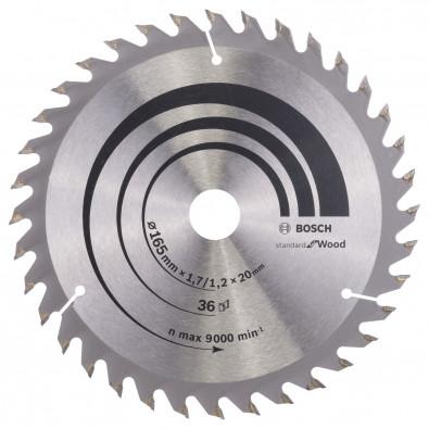 Bosch Kreissägeblatt Optiline Wood für Handkreissägen, 165 x 20/16 x 1,7 mm, 36 - 2608642602