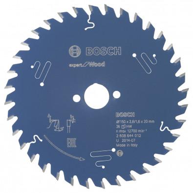 Bosch Kreissägeblatt Expert for Wood 150x20x2.6/1.6x36T - 2608644012