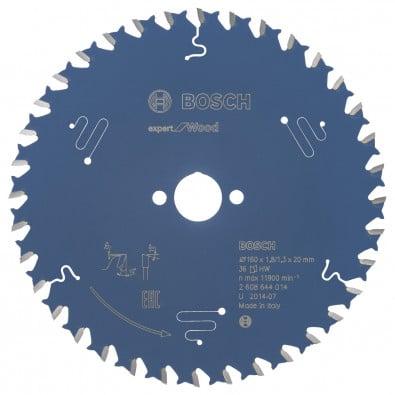 Bosch Kreissägeblatt Expert for Wood 160x20x1.8/1.3x36T - 2608644014