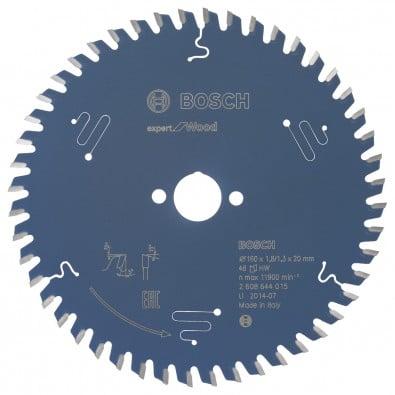 Bosch Kreissägeblatt Expert for Wood 160x20x1.8/1.3x48T - 2608644015