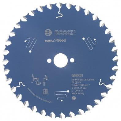 Bosch Kreissägeblatt Expert for Wood 165x20x2.6/1.6x36T - 2608644023
