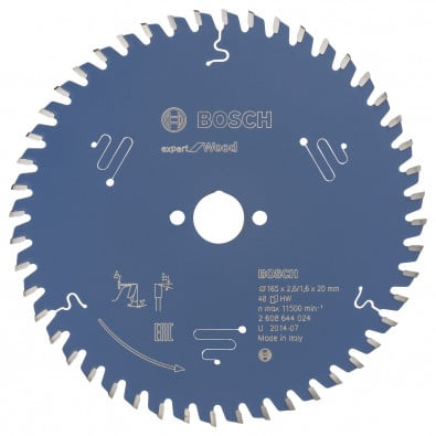 Bosch Professional 1x Kreissägeblatt EX WO H 165x20-48 - 2608644024