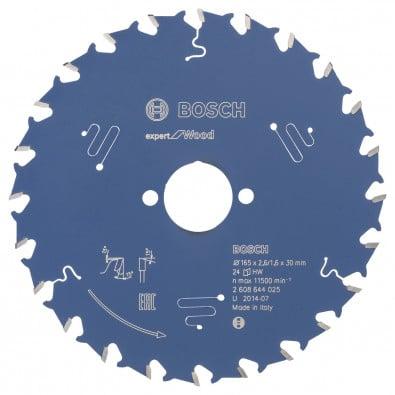 Bosch Kreissägeblatt Expert for Wood 165x30x2.6/1.6x24T - 2608644025