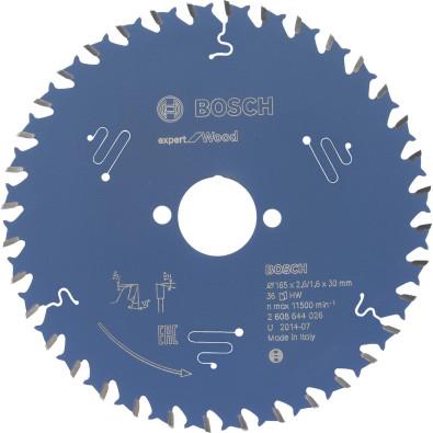 Bosch Kreissägeblatt Expert for Wood 165x30x2.6/1.6x36T - 2608644026