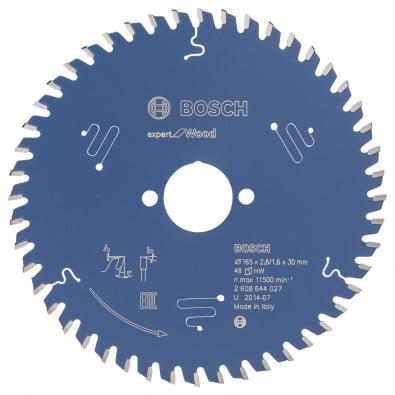 Bosch Kreissägeblatt Expert for Wood 165x30x2.6/1.6x48T - 2608644027