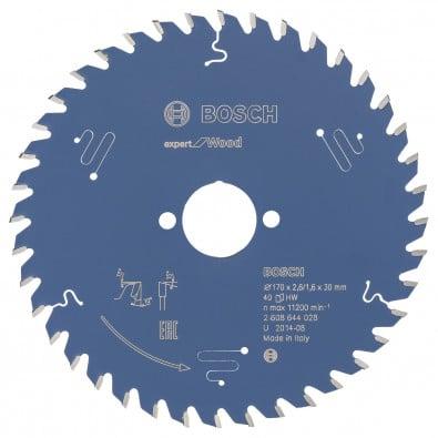 Bosch Kreissägeblatt Expert for Wood 170x30x2.6/1.6x40T - 2608644028