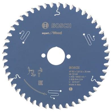 Bosch Kreissägeblatt Expert for Wood 180x30x2.6/1.6x48T - 2608644034