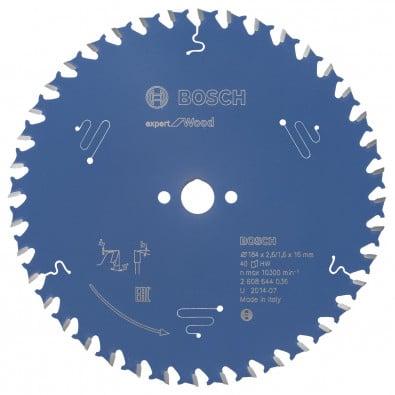 Bosch Kreissägeblatt Expert for Wood 184x16x2.6/1.6x40T - 2608644036