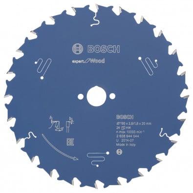 Bosch Kreissägeblatt Expert for Wood 190x20x2.6/1.6x24T - 2608644044