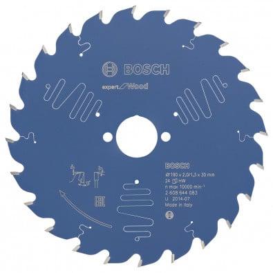 Bosch Kreissägeblatt Expert for Wood 190x30x2/1.3x24T - 2608644083