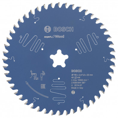 Bosch Kreissägeblatt Expert for Wood 190xFFx2.4/1.6x48T - 2608644087