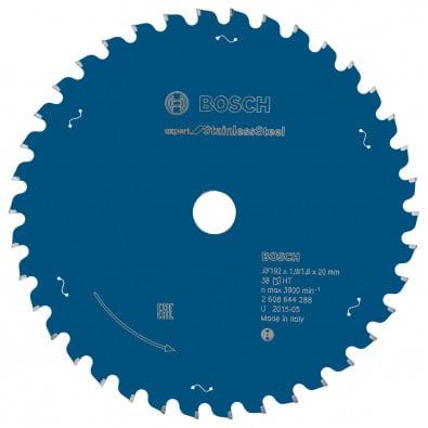 Bosch Kreissägeblatt Expert for Stainless Steel 192 x 20 x 1,9 / 1,6 mm 38 Zähne - 2608644288