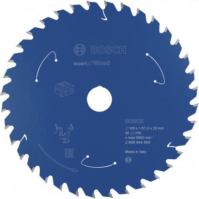Bosch Kreissägeblatt Expert for Wood, 160x1,5/1x20, 36Zähne - 2608644504