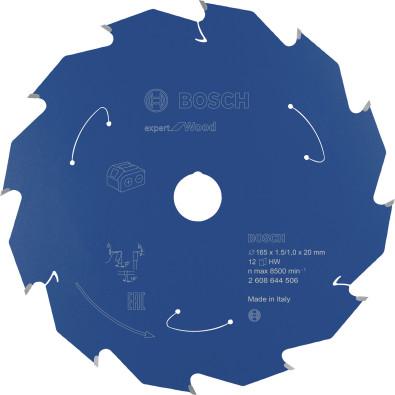 Bosch Kreissägeblatt Expert for Wood, 165x1,5/1x20, 12Zähne - 2608644506